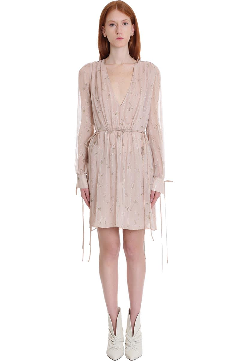Buy AMIRI Dress In Powder Silk online, shop AMIRI with free shipping