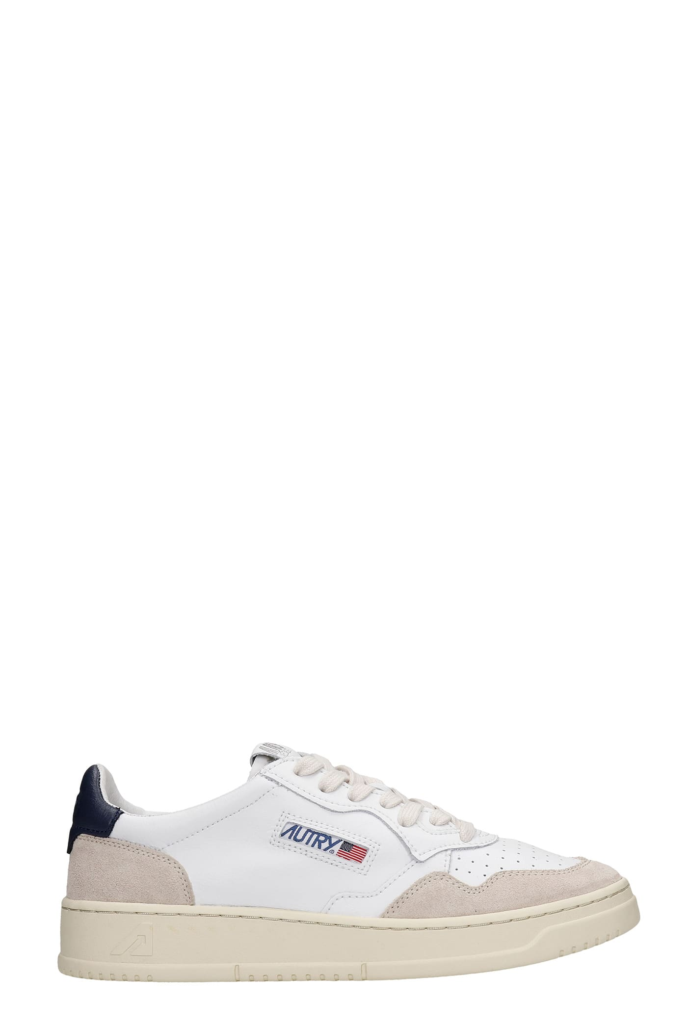 Autry 01 SNEAKERS IN WHITE SUEDE AND LEATHER