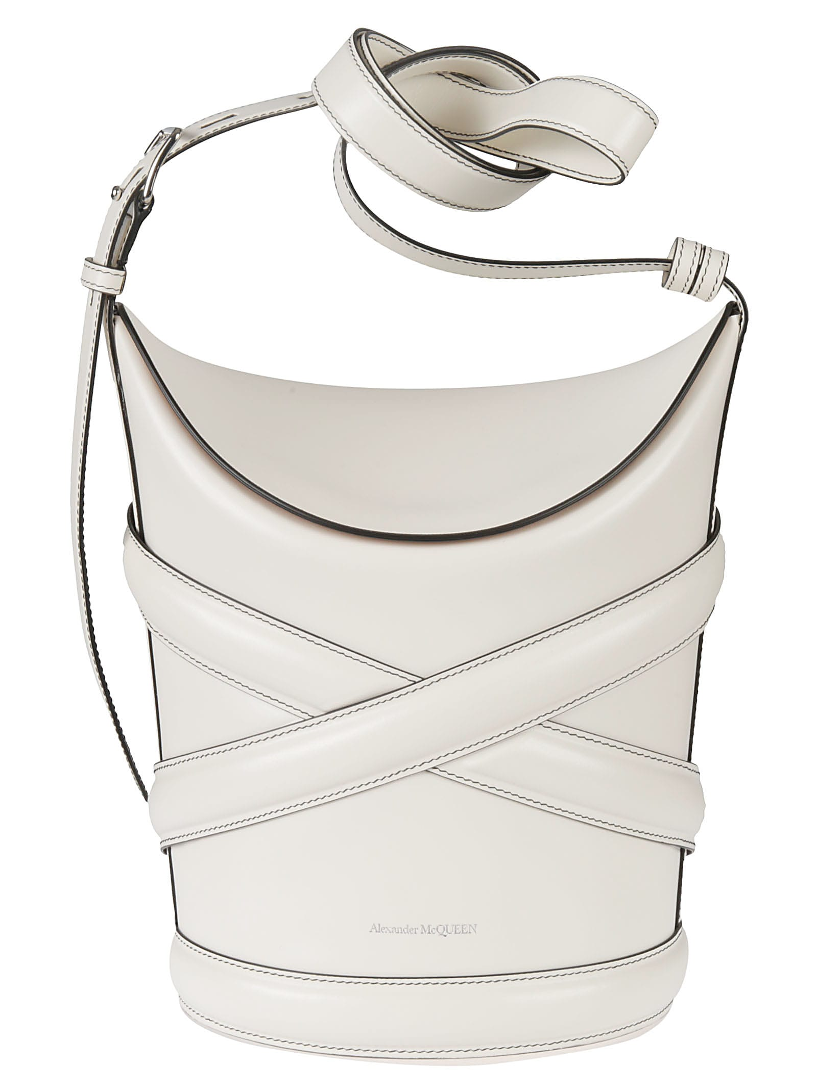 Alexander Mcqueen THE CURVE MEDIUM BUCKET BAG