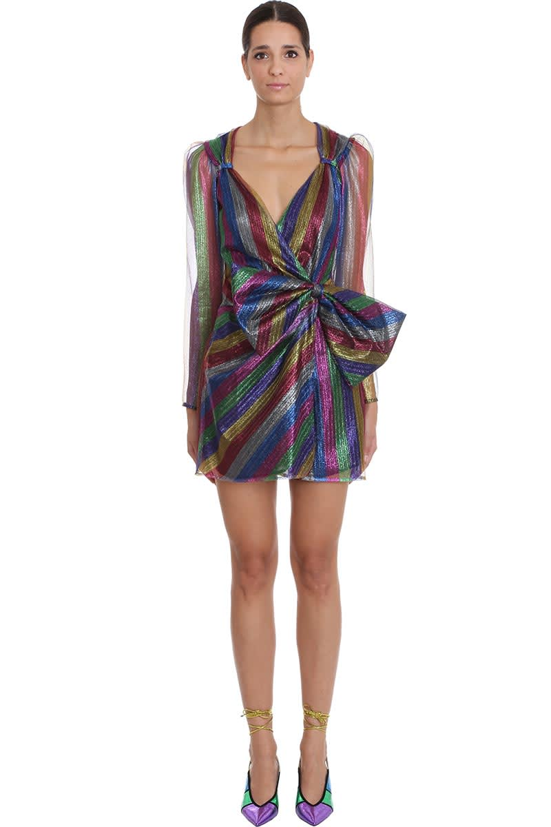 The Attico Dress In Multicolor Tech & synthetic