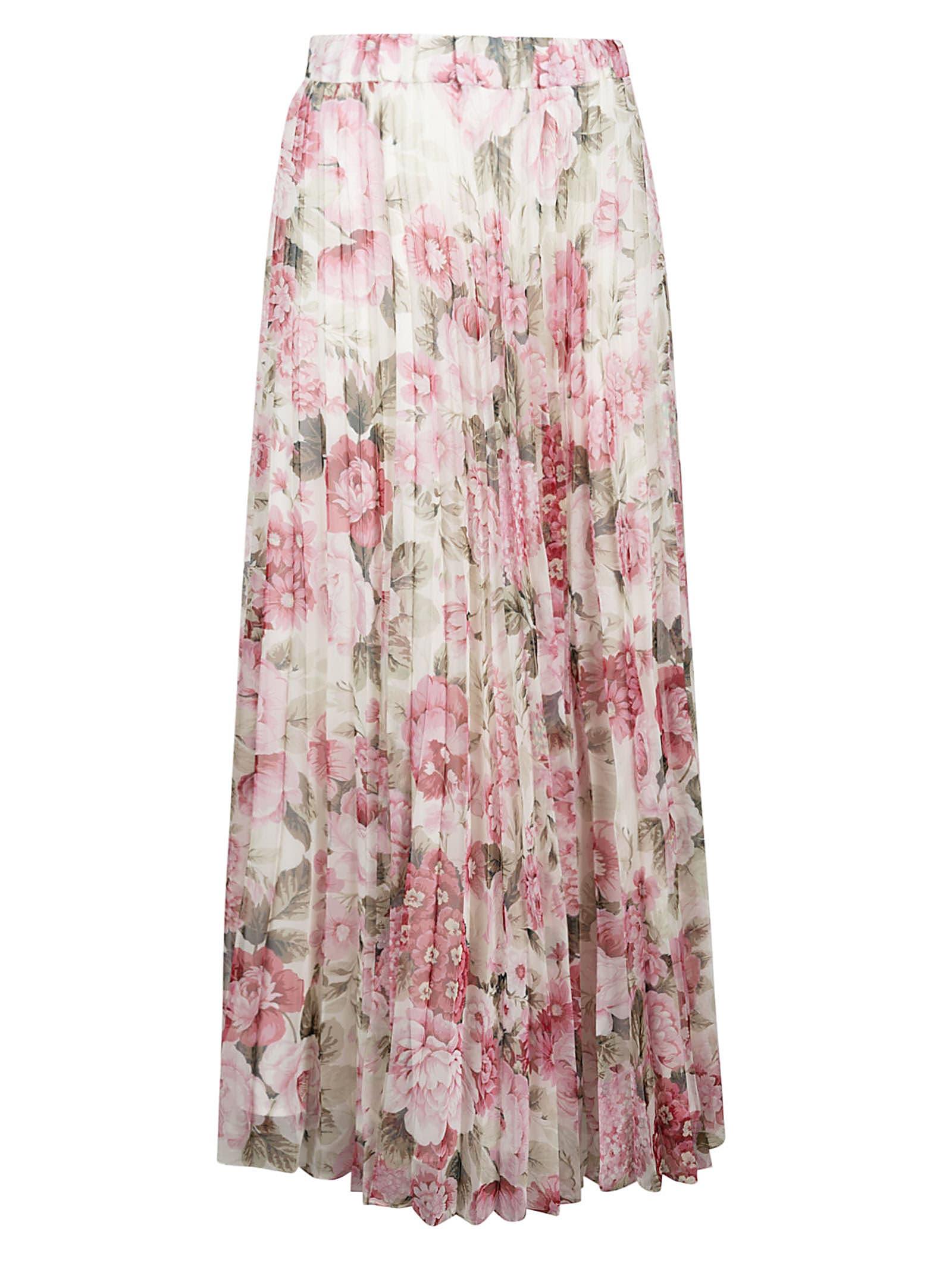 Parosh Pochic Long Floral Printed Dress