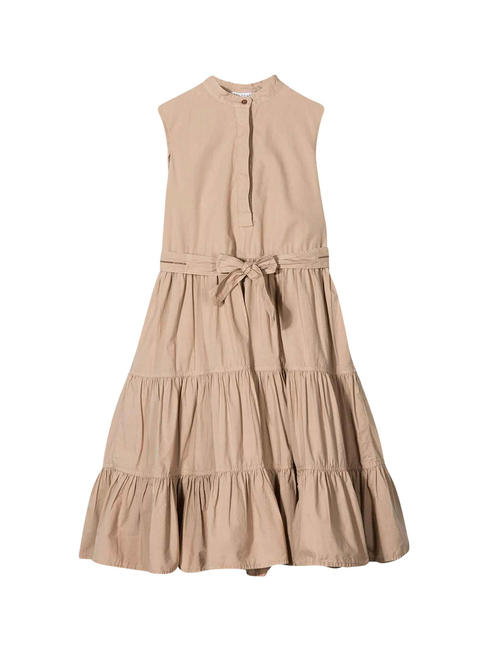 Brunello Cucinelli Pink Flared Sleveless Dress