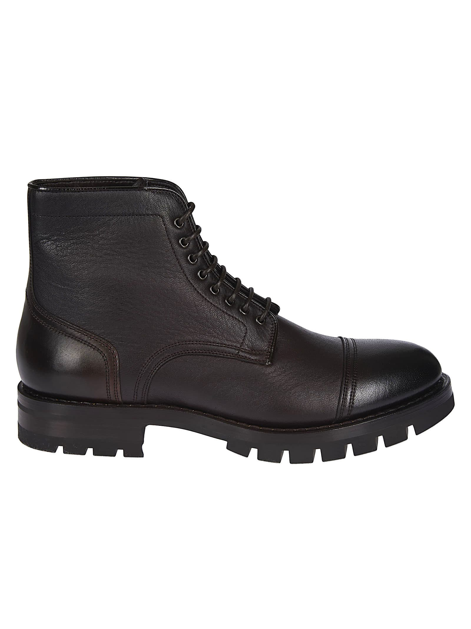 Santoni Classic Laced-up Boots