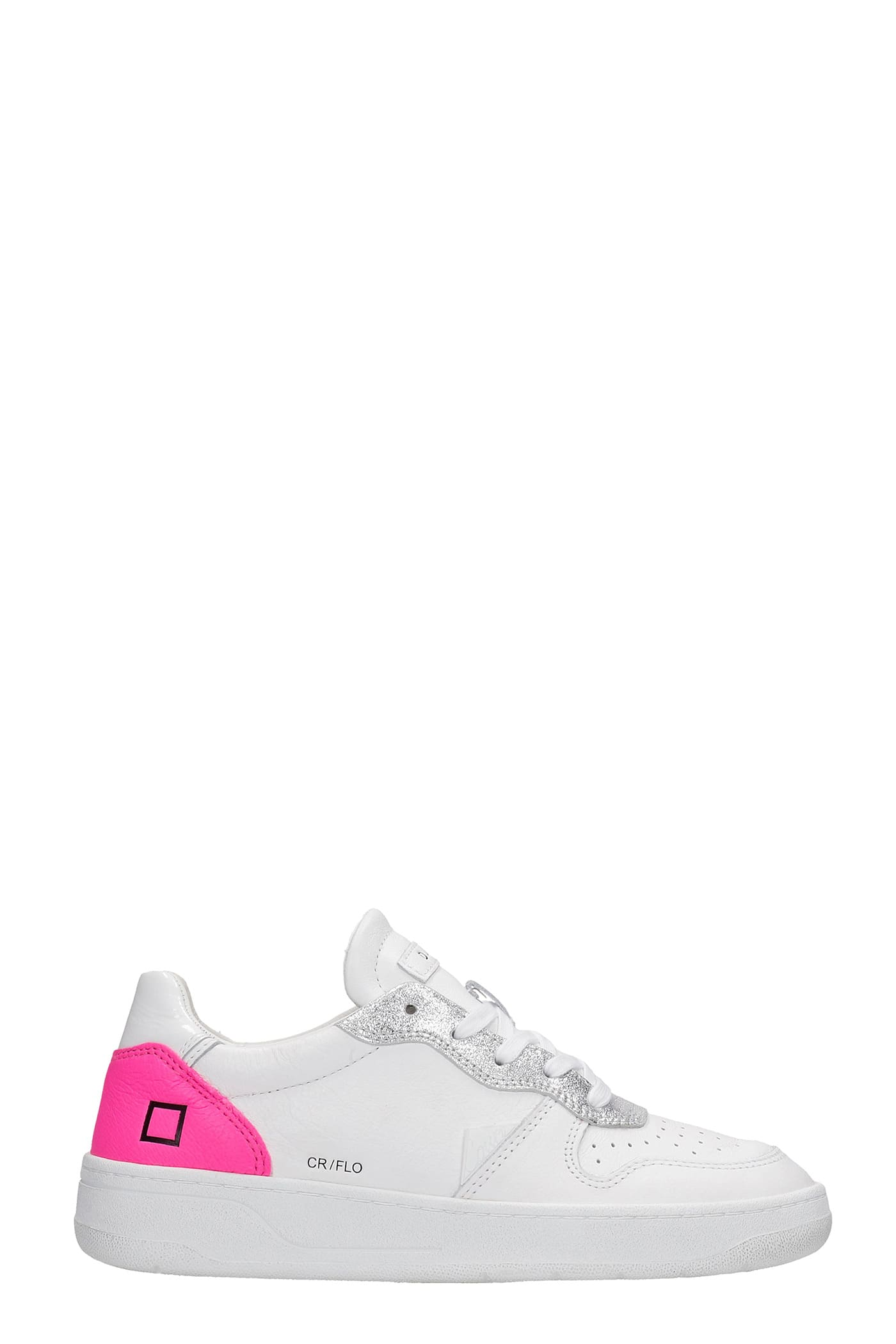 D.a.t.e. Low tops COURT SNEAKERS IN WHITE LEATHER