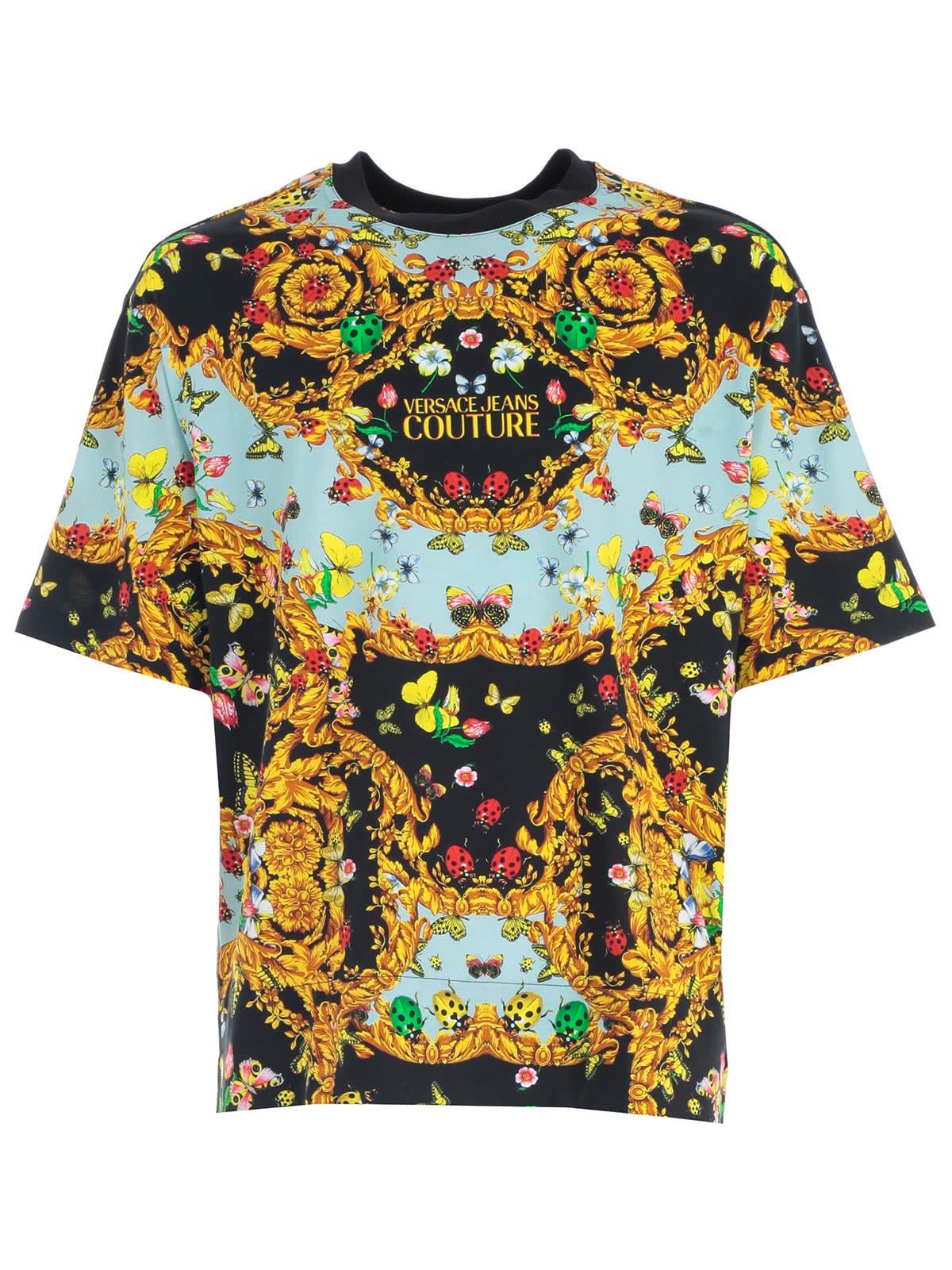 Versace Jeans Couture Versace Jeans Couture T Shirt S S Over W Ladybugs Black 10975483 Italist