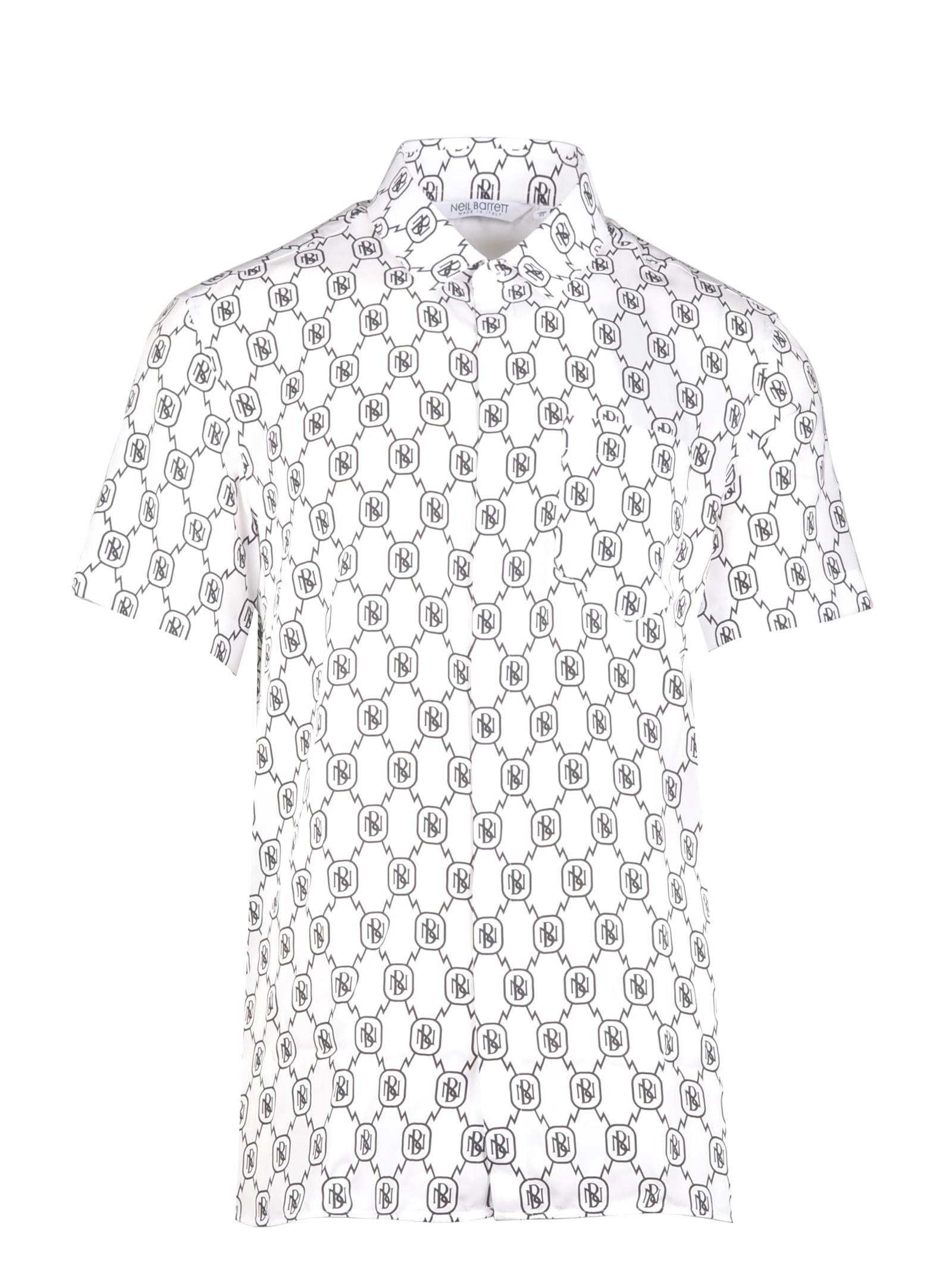 Neil Barrett All-over Monogram Tencel Shirt