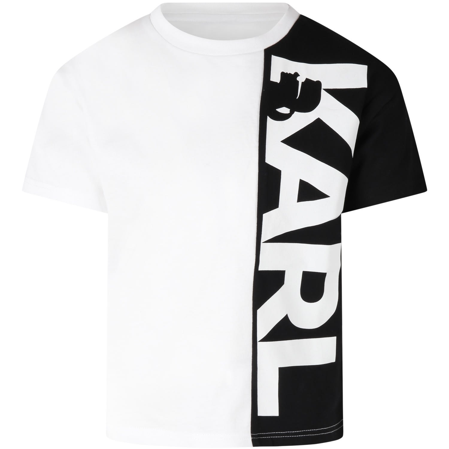 Karl Lagerfeld MULTICOLOR T-SHIRT FOR KIDS WITH LOGO