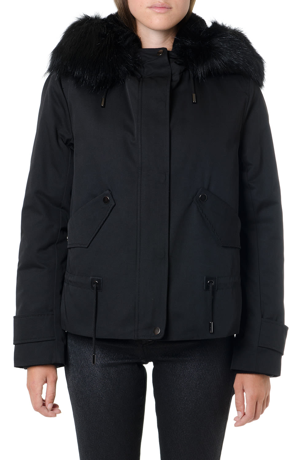 Dondup Black Technical Parka Jacket