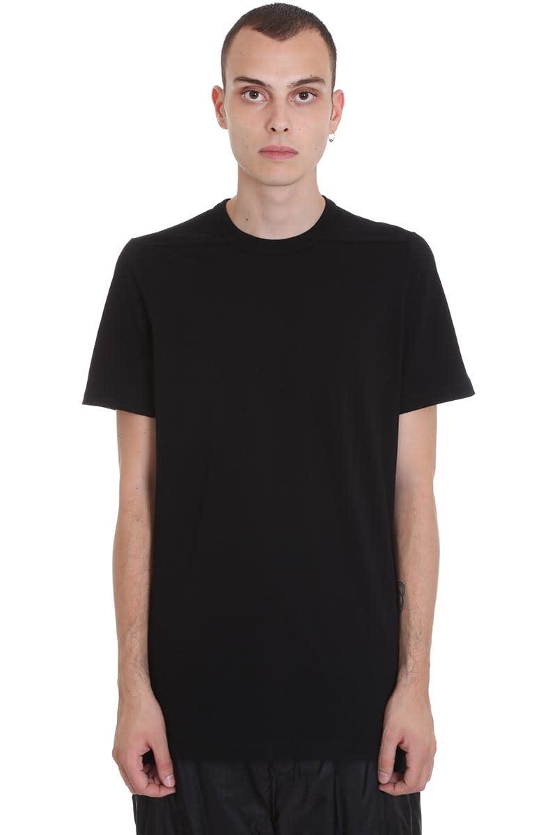 Rick Owens Level T T-shirt In Black Cotton