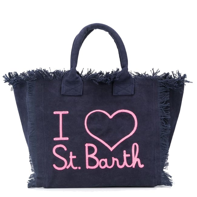 Love St. Barth Embroidery Canvas Bag