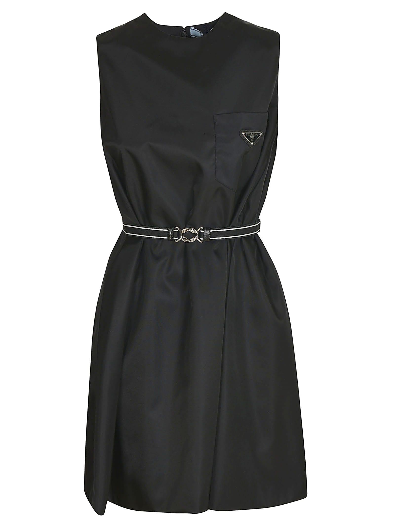 Prada Sleeveless Belted Dress