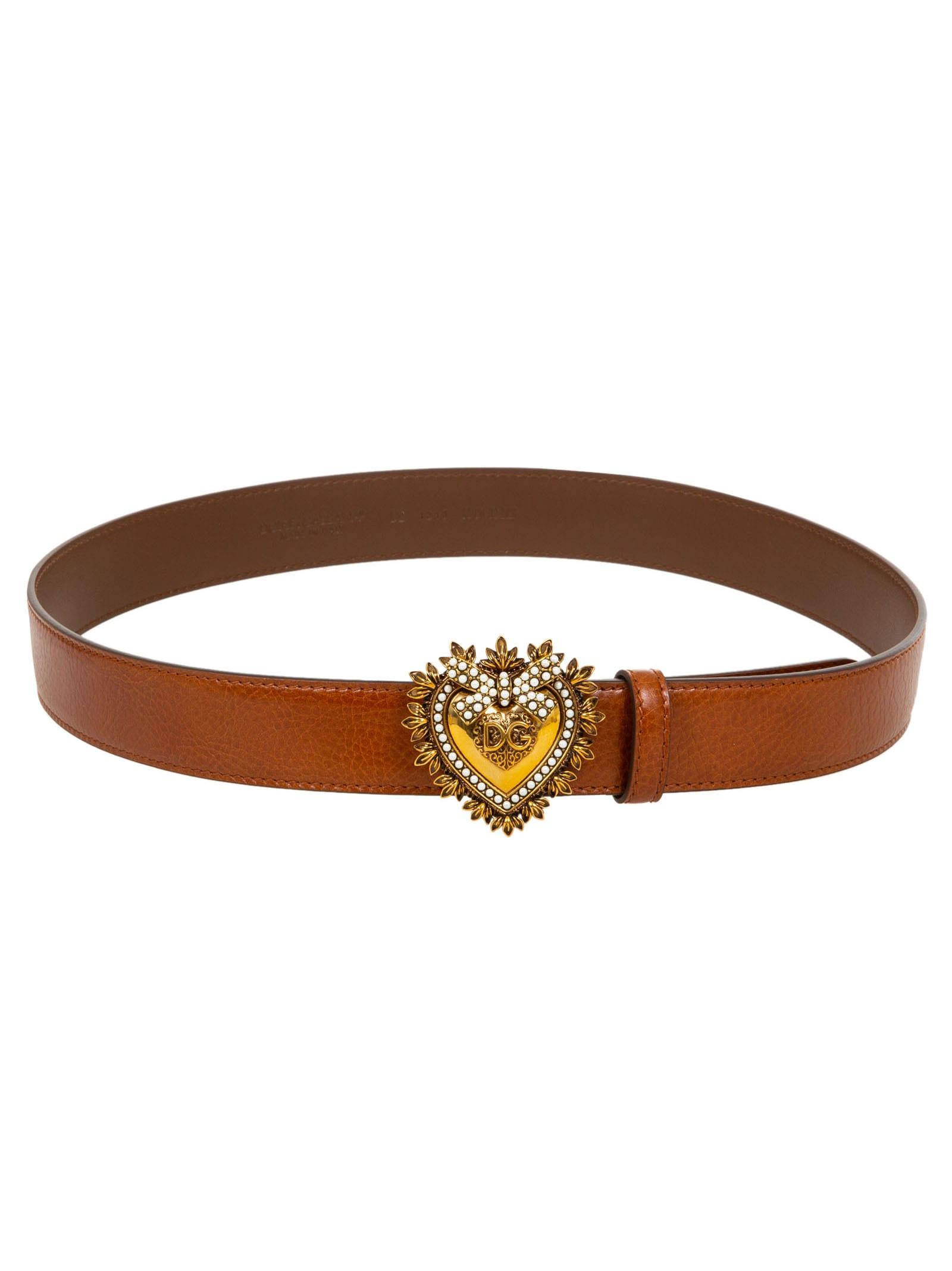 Dolce & Gabbana Belts HEART BUCKLED BELT