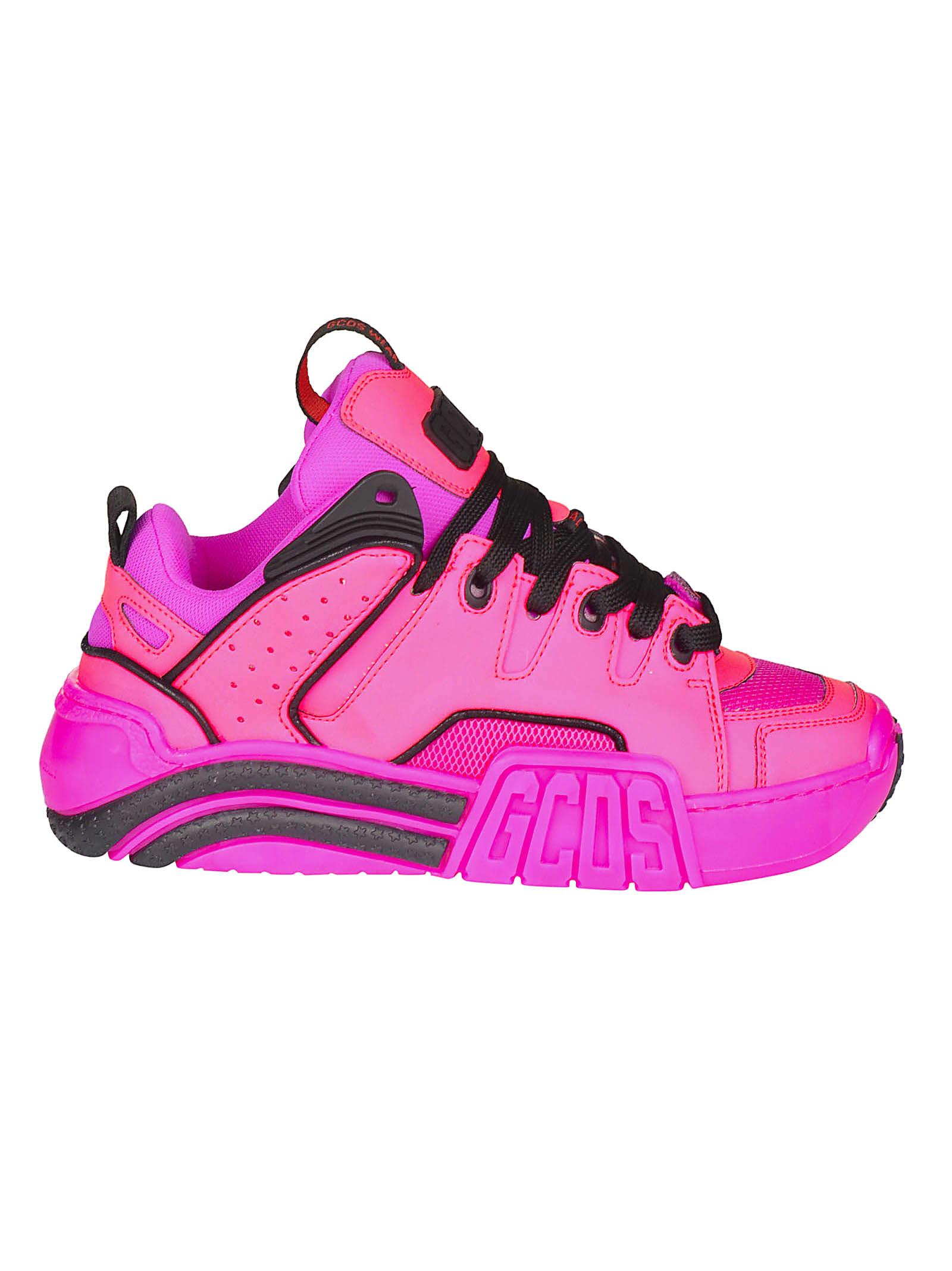Photo of GCDS Side Embossed Logo Platform Sneakers - shop GCDS clothing 48% sales
