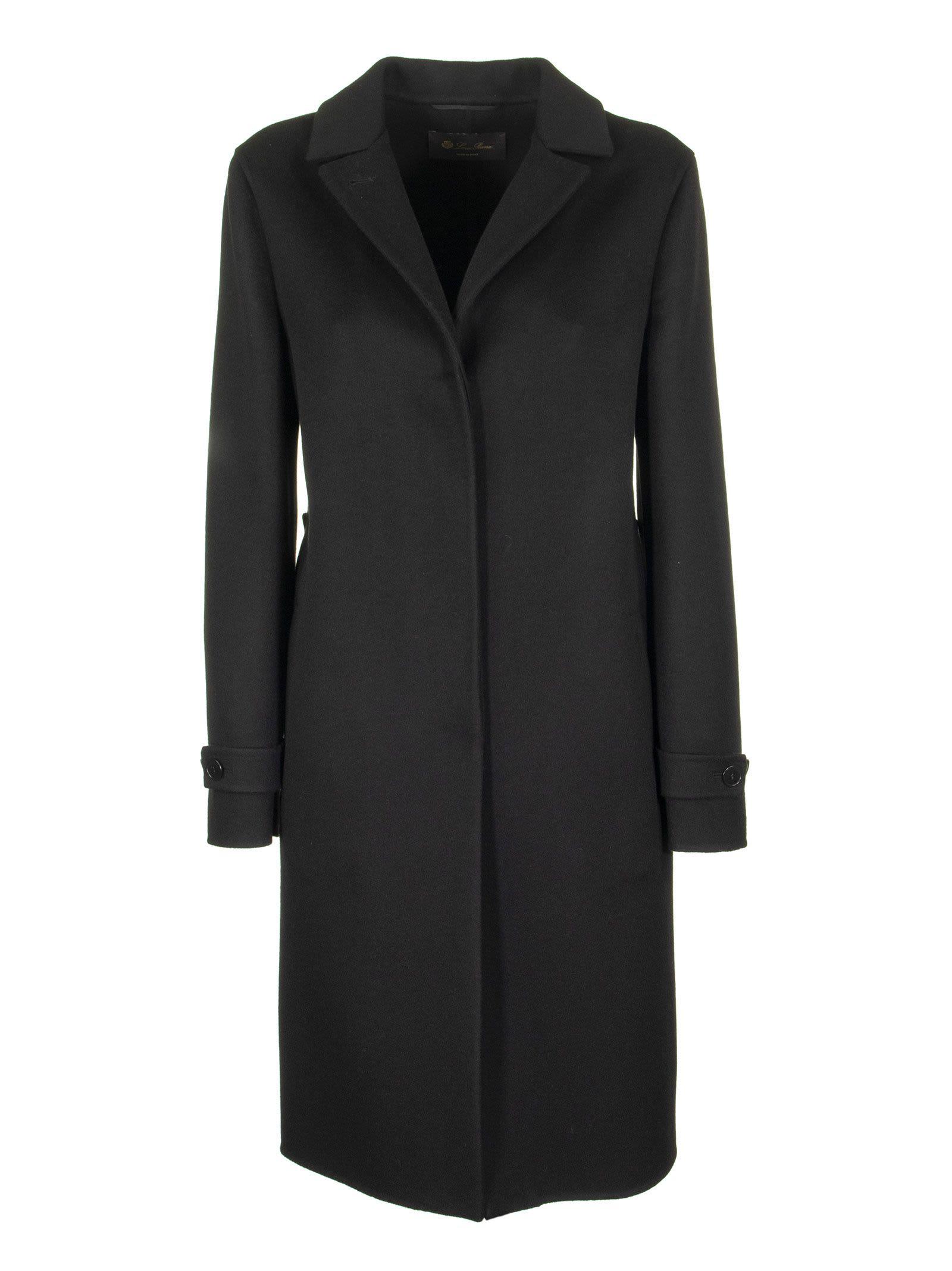 Loro Piana Breaden Cashmere Black Coat
