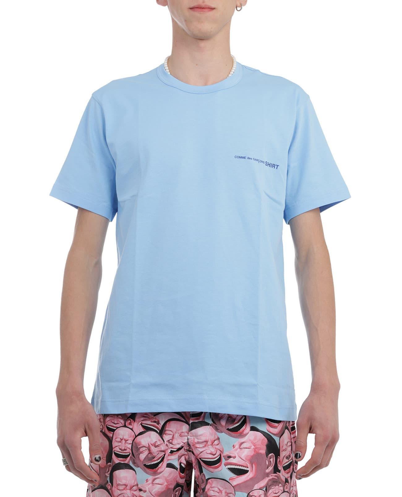 Comme Des Garçons Shirt Cottons COMME DES GARCONS SHIRT BLUE T-SHIRT