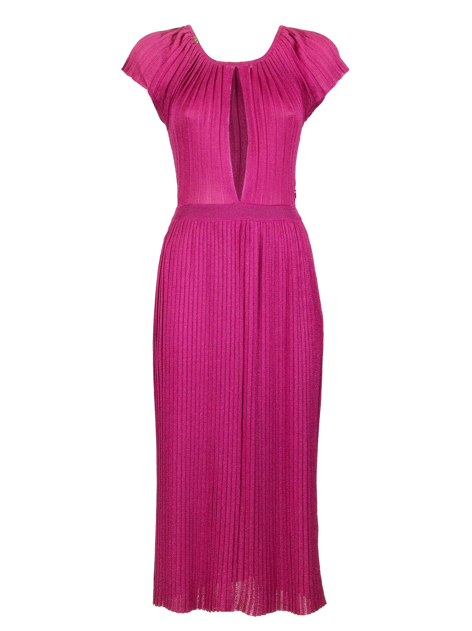 Buy Elisabetta Franchi Celyn B. Knee-length Pleated Dress online, shop Elisabetta Franchi Celyn B. with free shipping