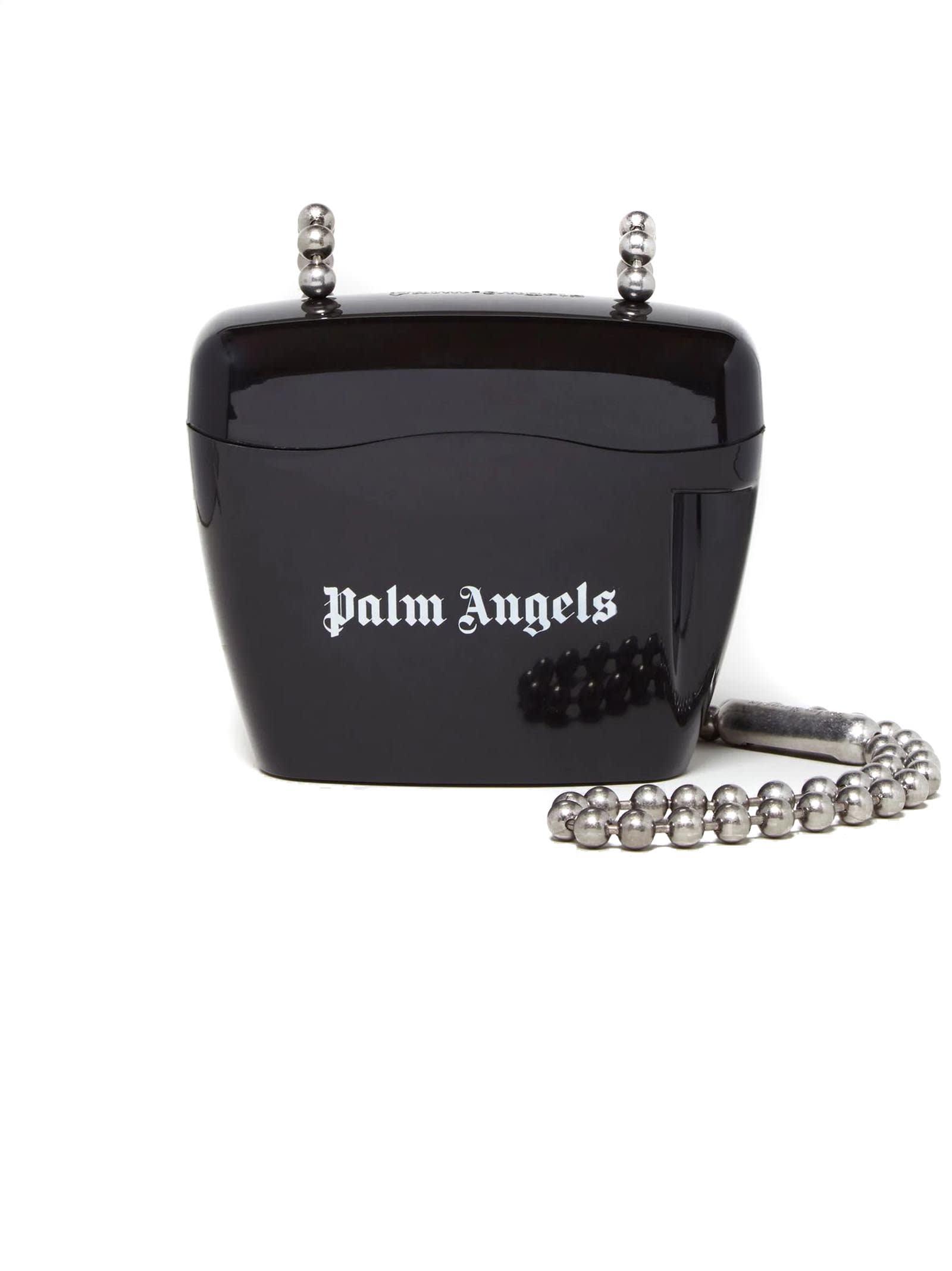 Palm Angels Rigid Shoulder Bag In Black
