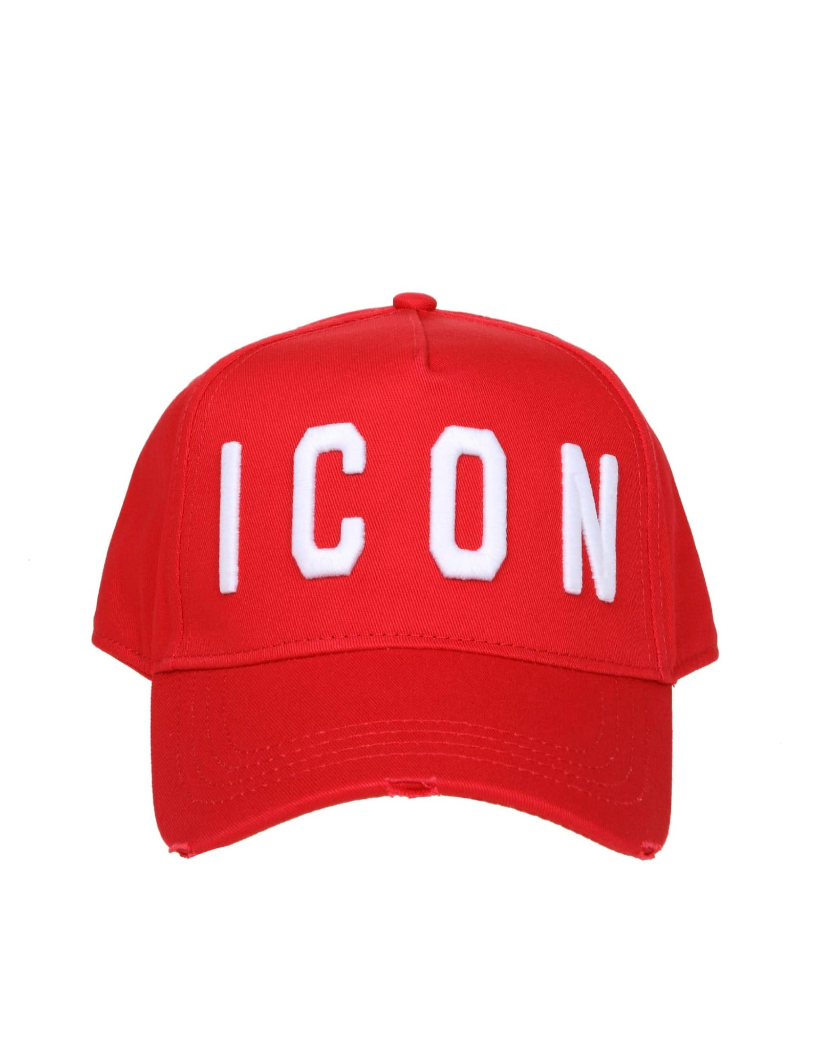 Dsquared2 BASEBALL HAT IN RED FABRIC
