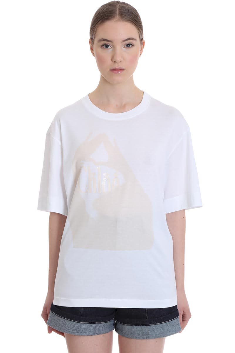 Chloé T-shirt In Multicolor Cotton