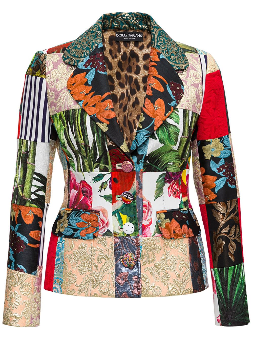 Dolce & Gabbana Coats SINGLE BREASTED PATCHWORK BLAZER