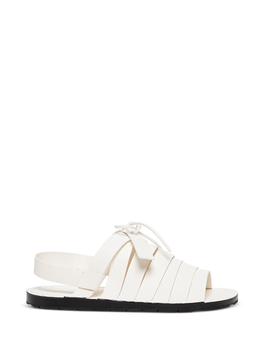 Jil Sander White Leather Sandals