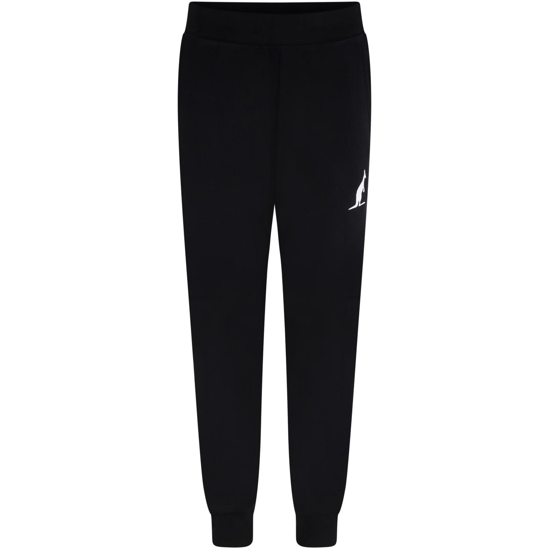 Black Sweatpant For Boy With Kangaroo