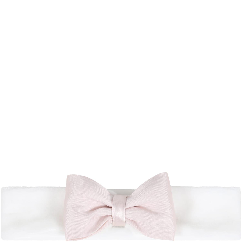 White Headband For Baby Girl