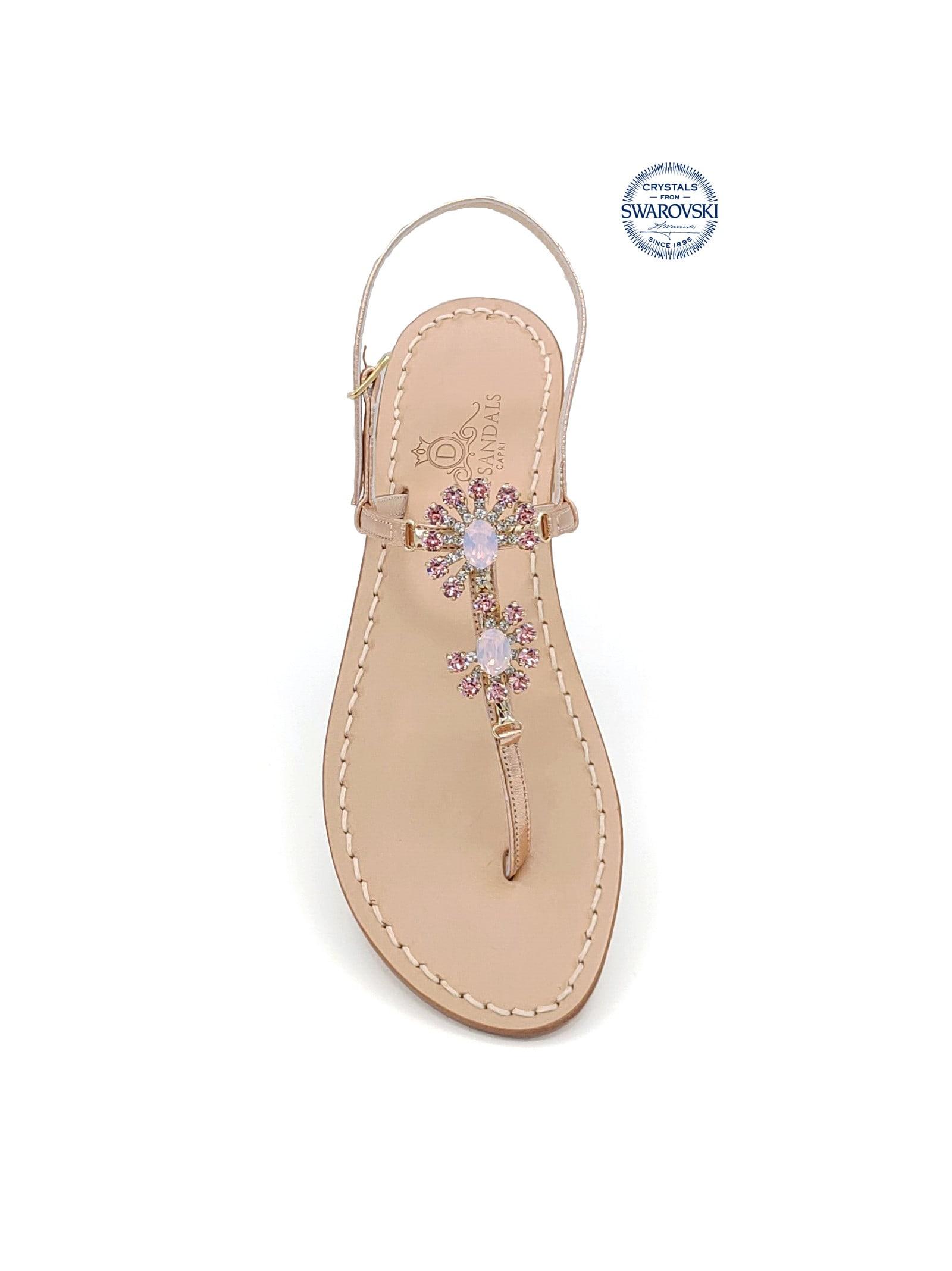 Money Jewel Thong Sandals