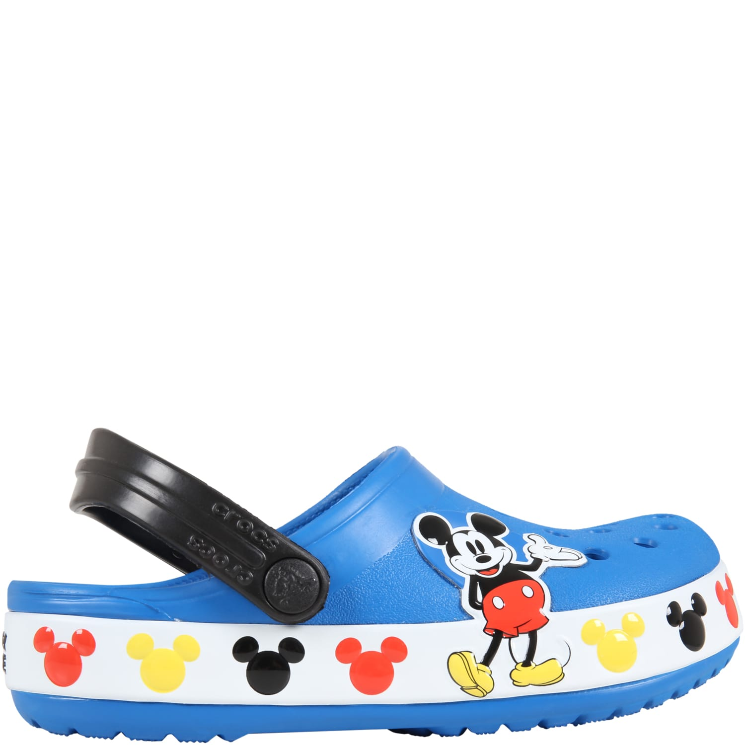 Blue Sabot For Kids With Mickey Mouse