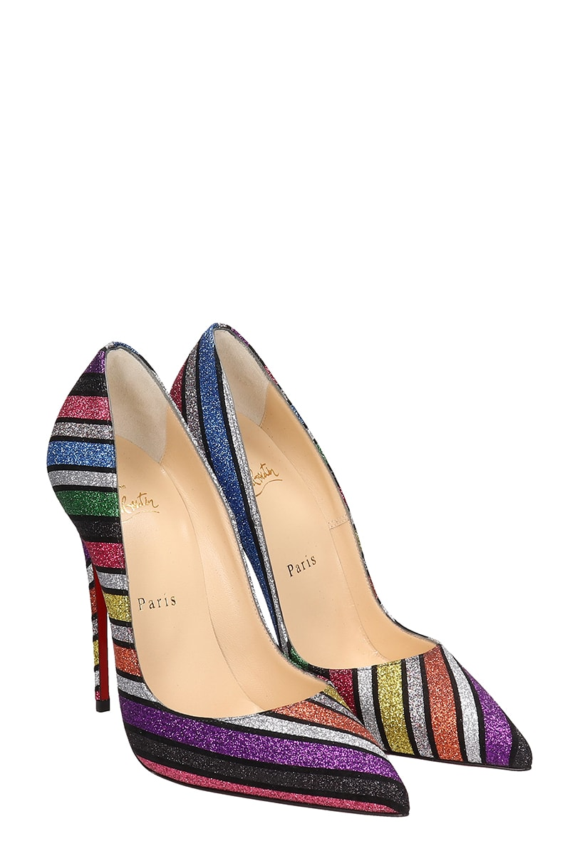 size 40 e83e1 0d09a Christian Louboutin So Kate Suede And Striped Sandals
