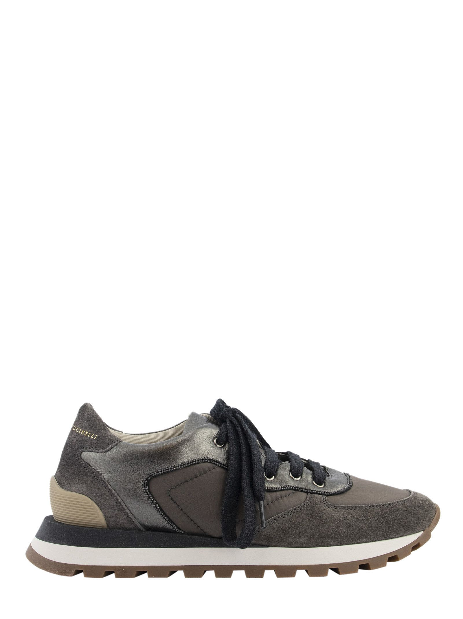 Brunello Cucinelli SUEDE, LEATHER AND FABRIC SNEAKERS