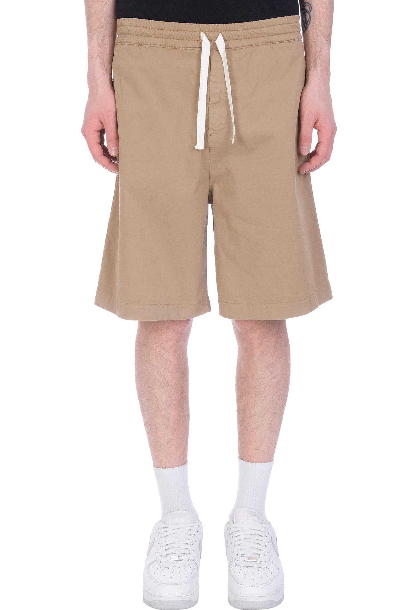 Baviera Shorts In Beige Cotton