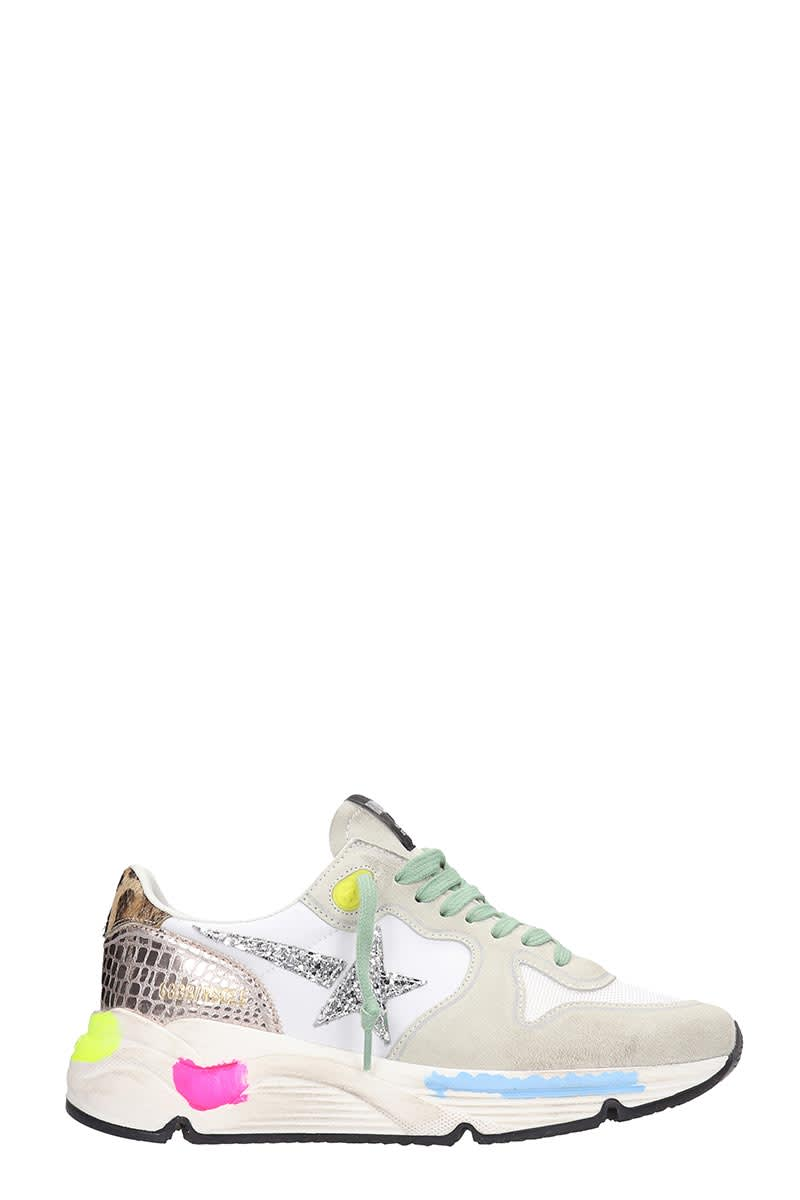 Running Sneakers in multicolor synthetic fibers, laces, snake print, metal details, rubber outsoleComposition: Synthetic Fibers