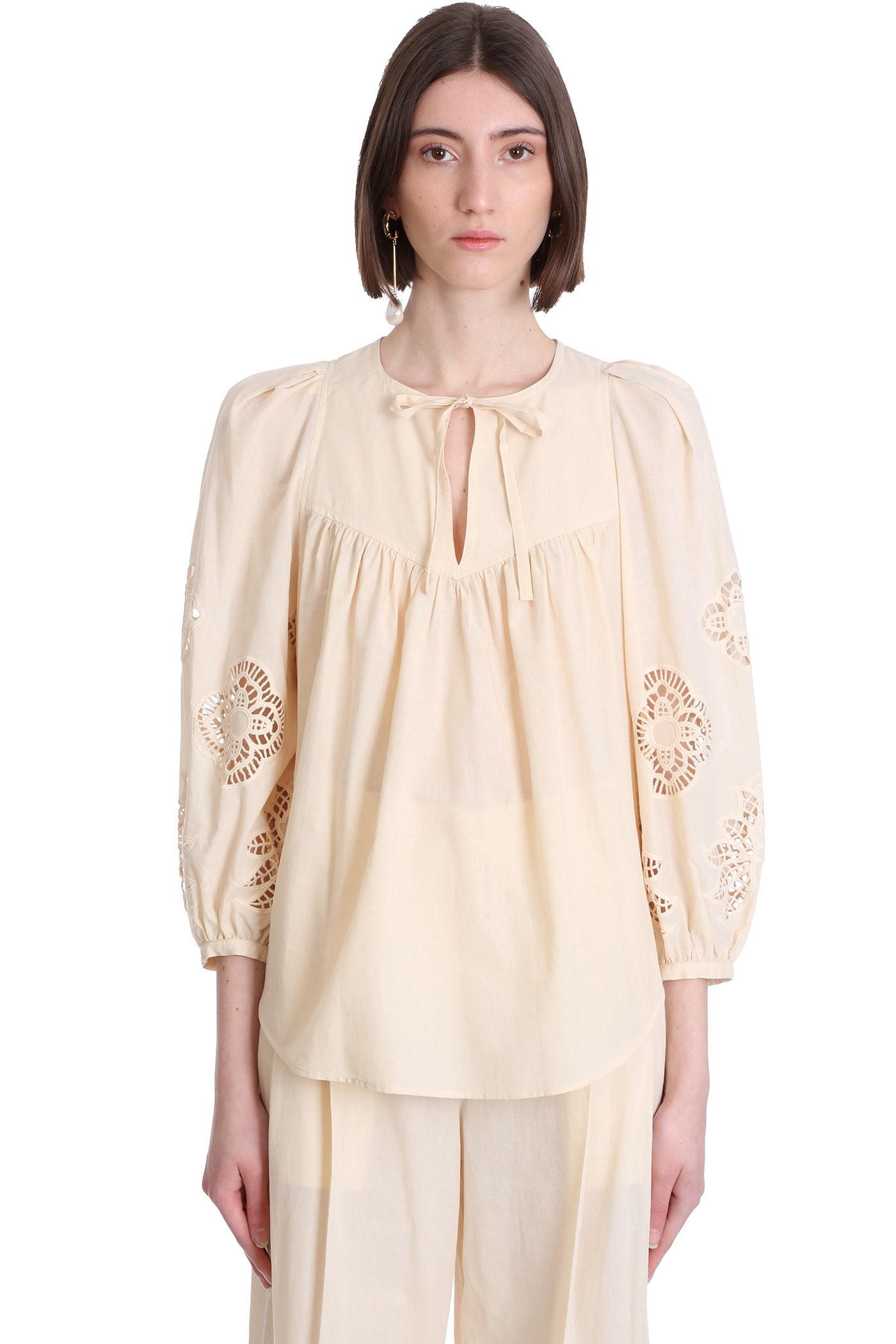 See By Chloé Cottons BLOUSE IN BEIGE COTTON