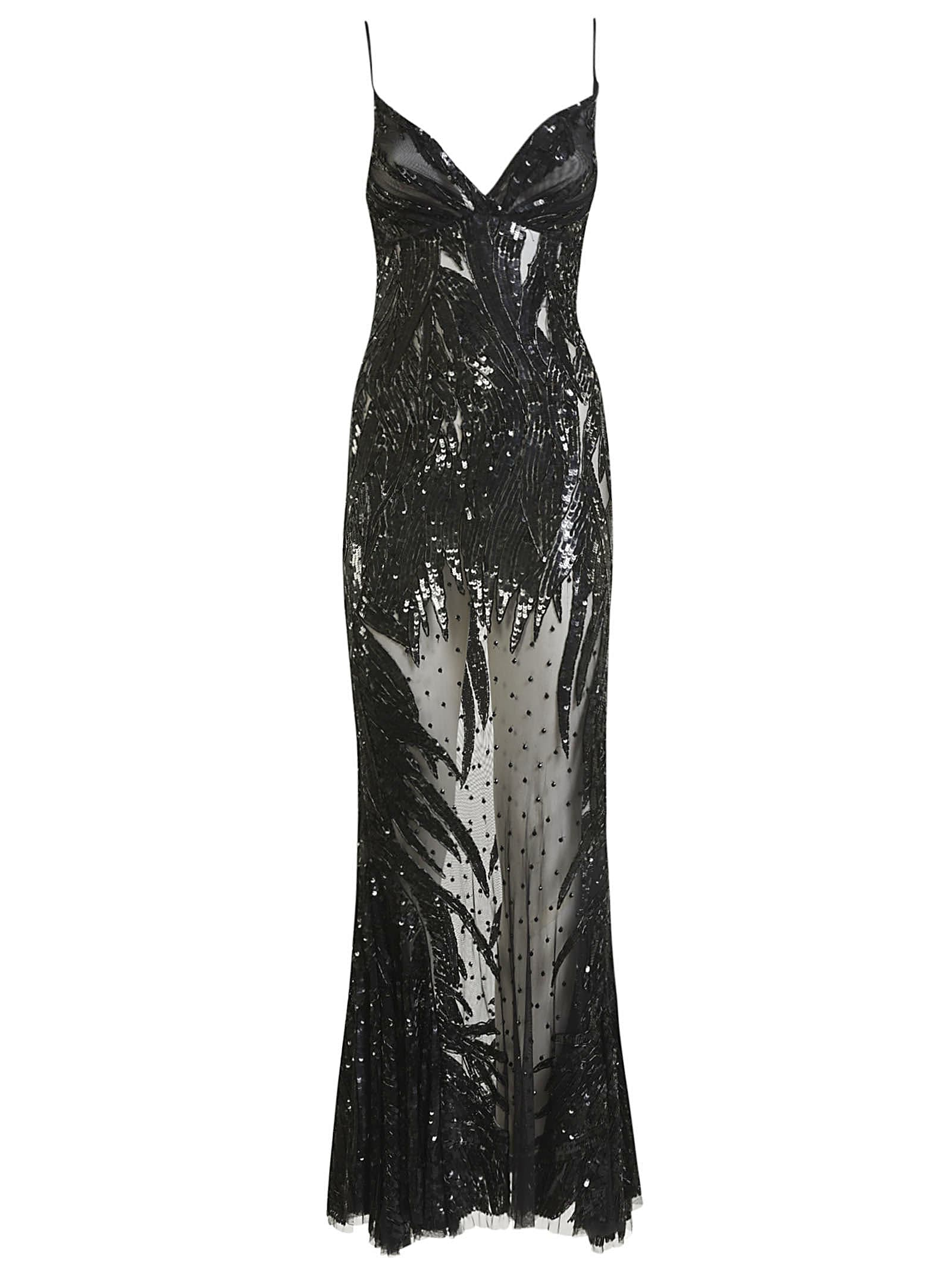 Buy Amen Studded Lace Long Dress online, shop Amen with free shipping
