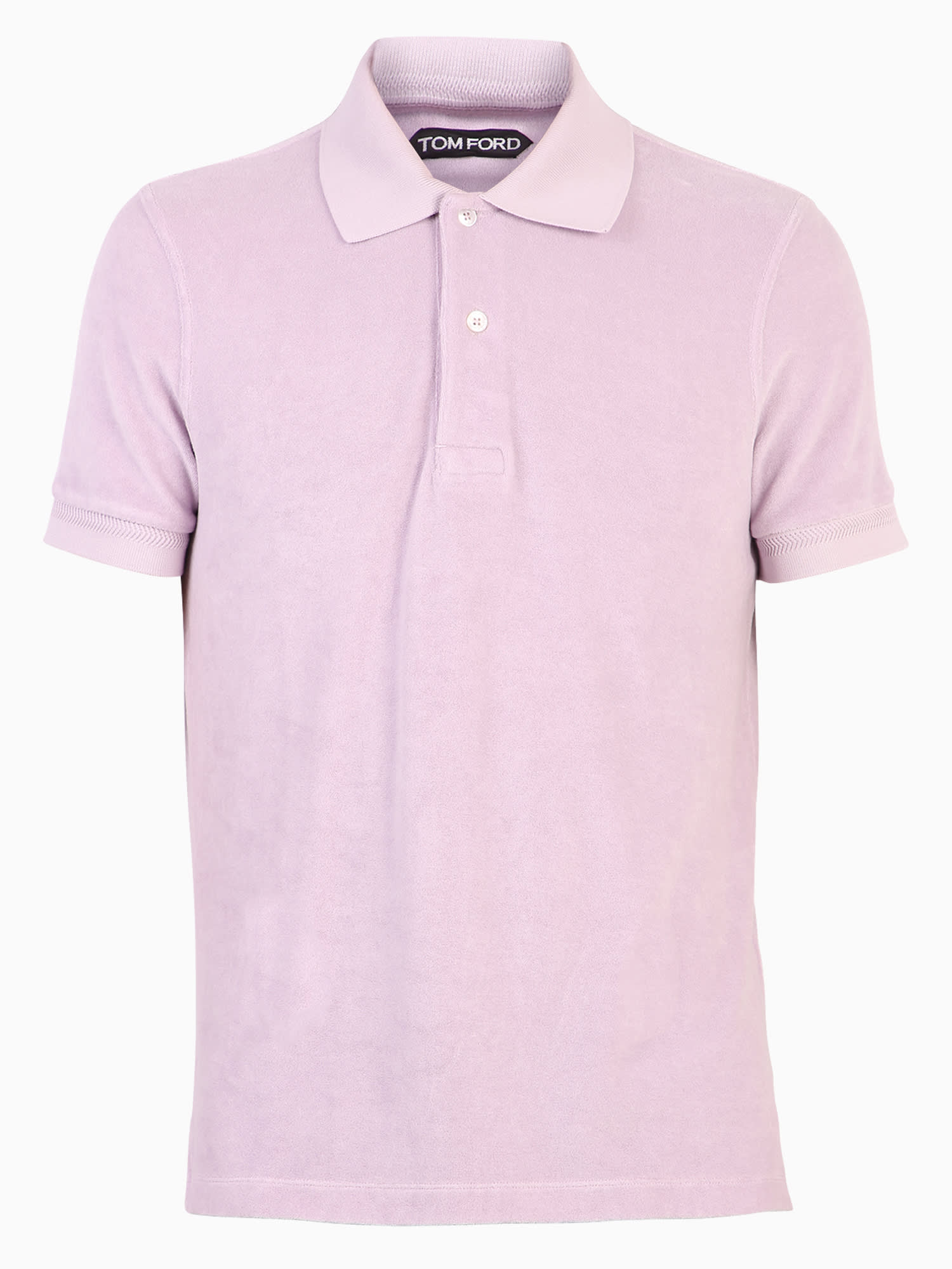 Tom Ford Regular Fit Polo In Purple