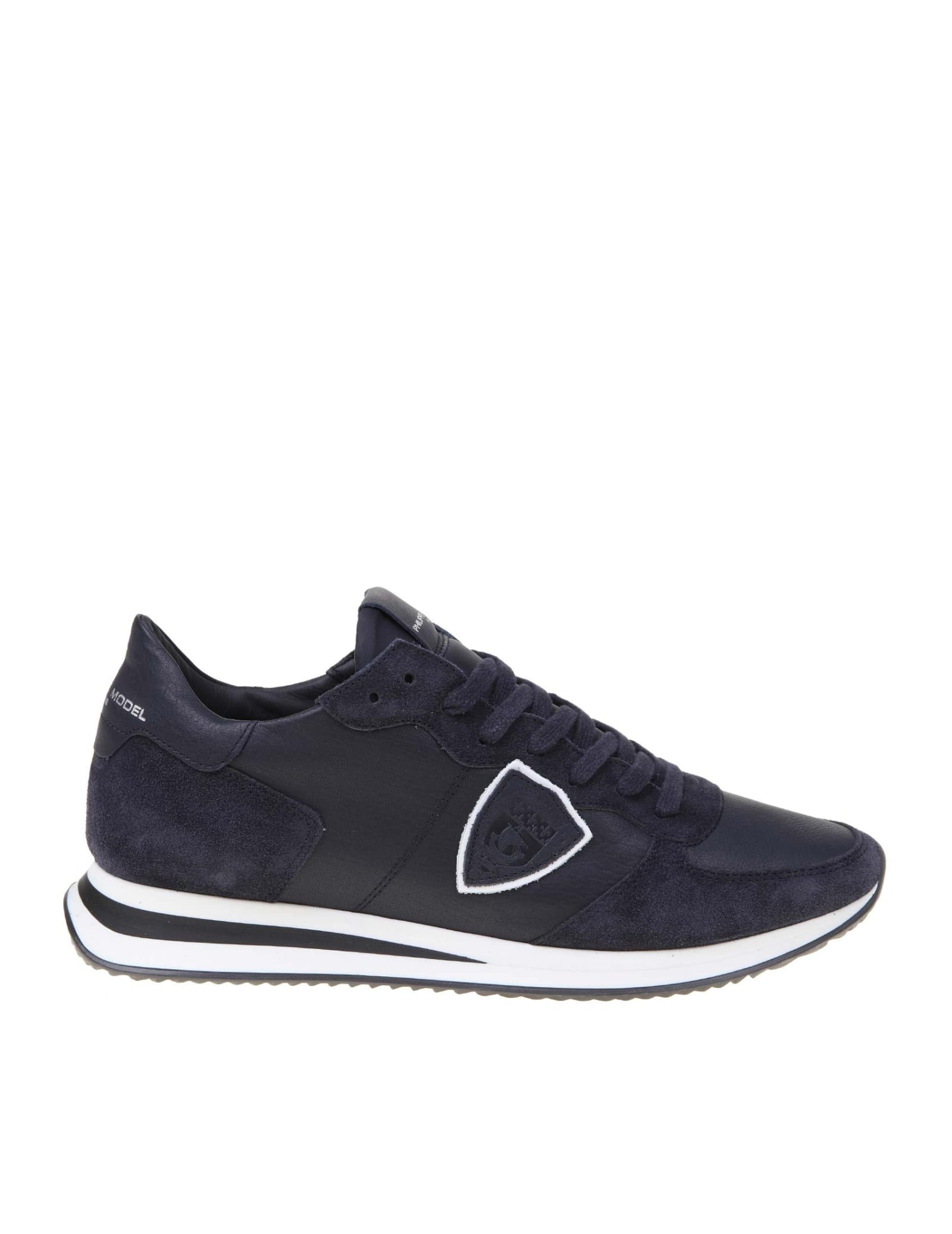 Philippe Model Trpx Leather And Suede Sneakers