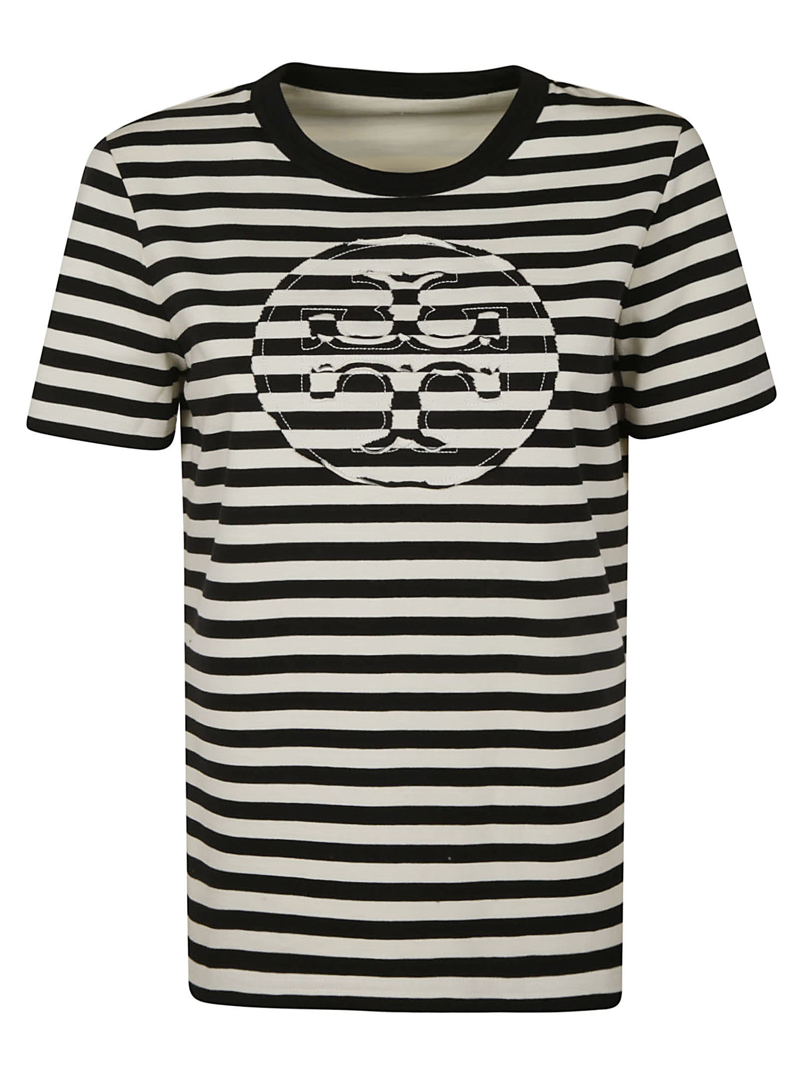 Tory Burch Stripe Logo T-shirt