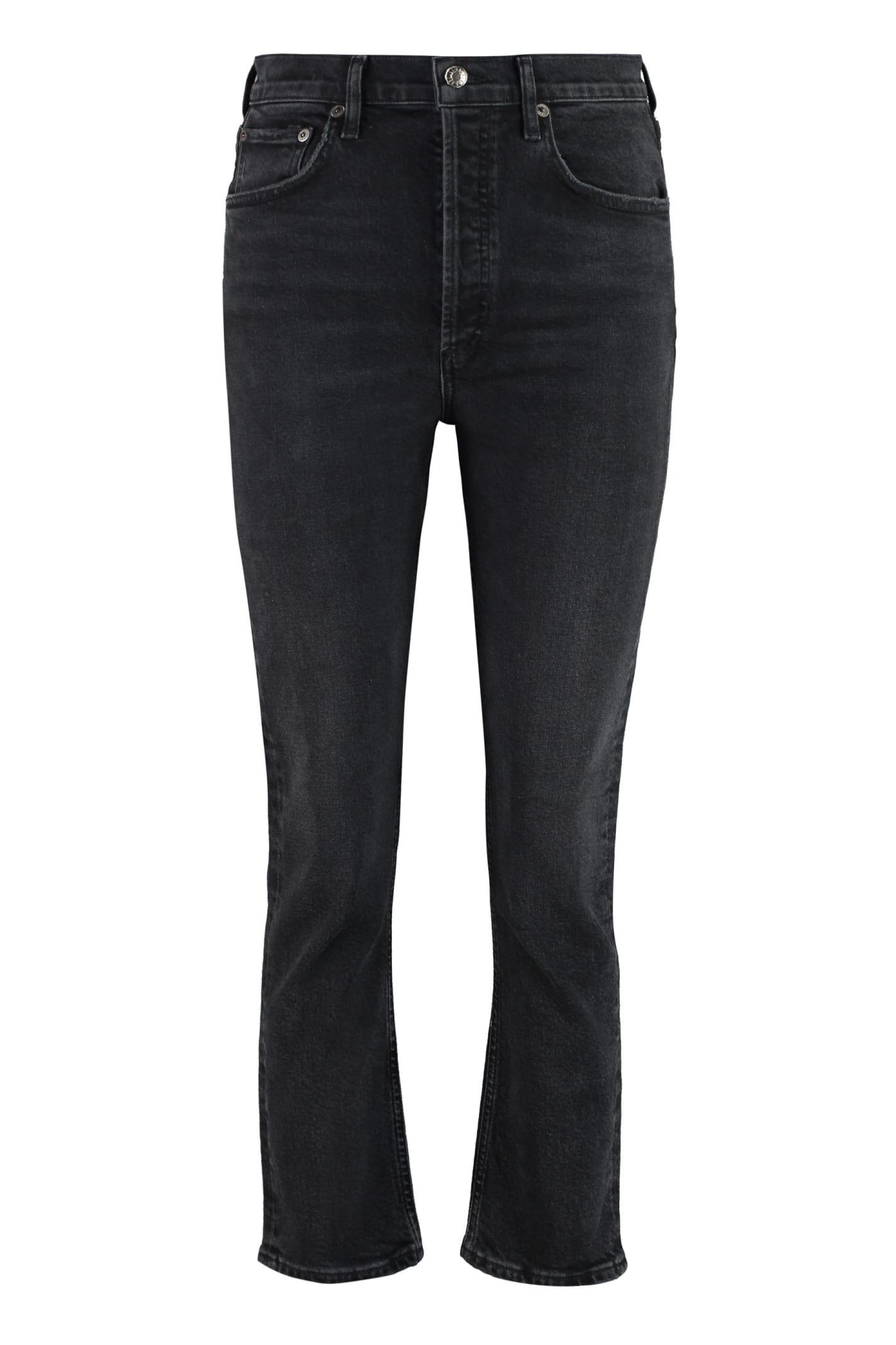 AGOLDE High-rise Straight Leg Jeans