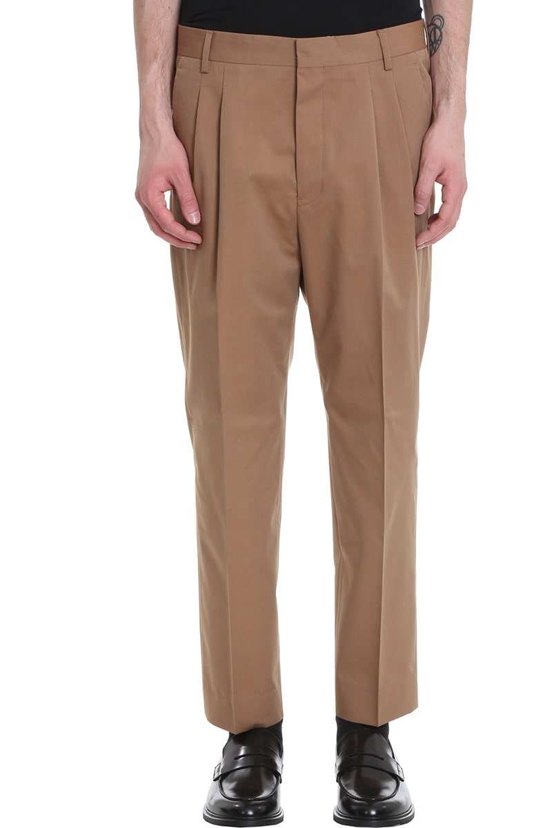 Mauro Grifoni Pants In Leather Color Cotton