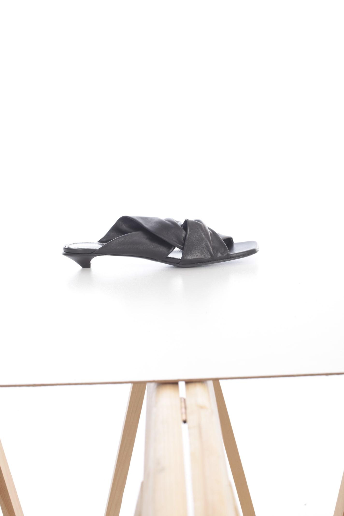 Proenza Schouler Low heels OPEN TOE SANDALS W/2 STRAPS