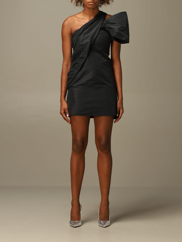 N°21 N° 21 DRESS ONE SHOULDER MINI DRESS N°21 IN TAFFETA