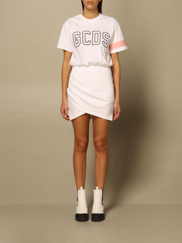 Gcds Cottons GCDS DRESS GCDS COTTON DRESS WITH BIG LOGO