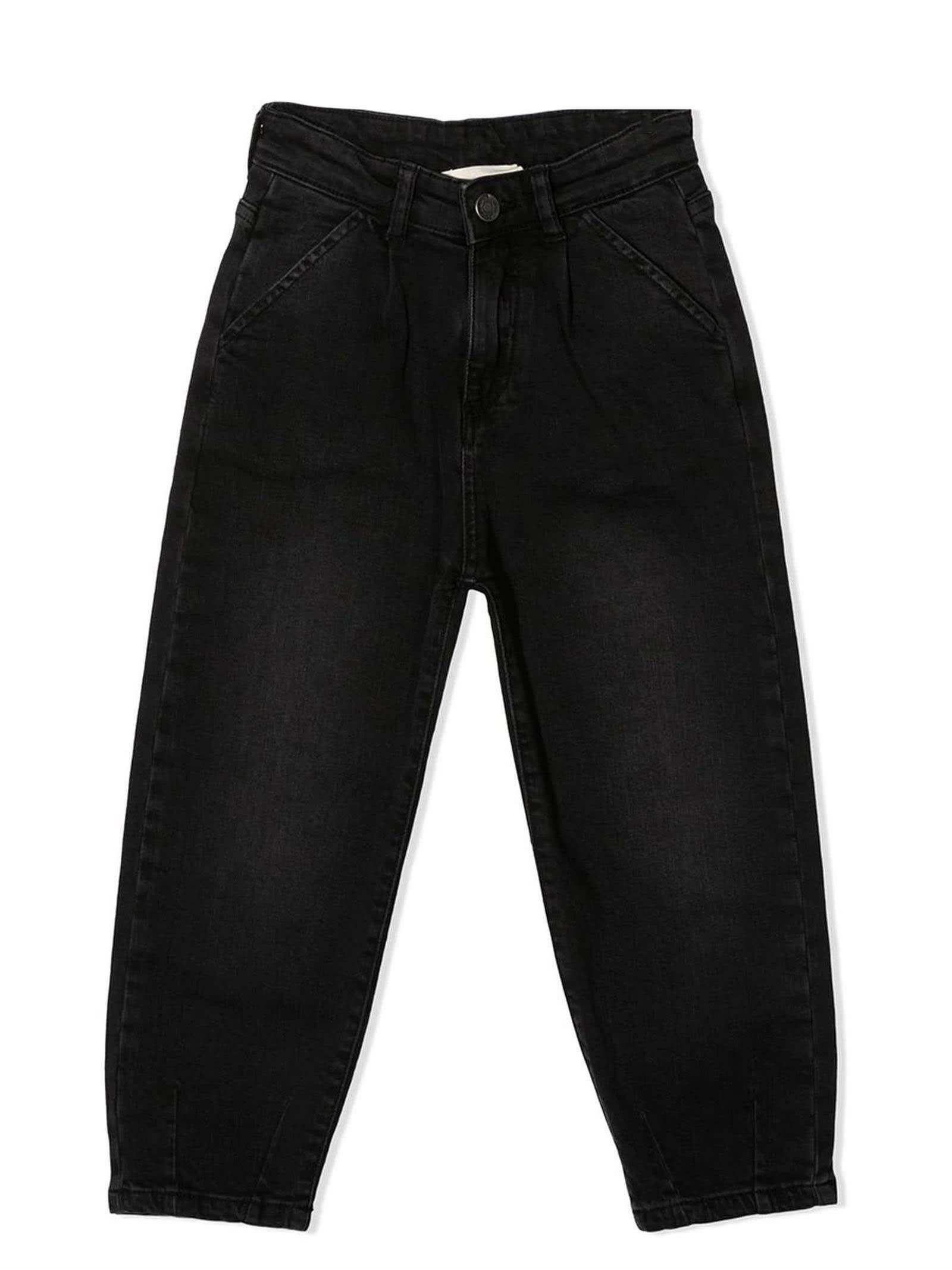 Black Cotton-blend Jeans