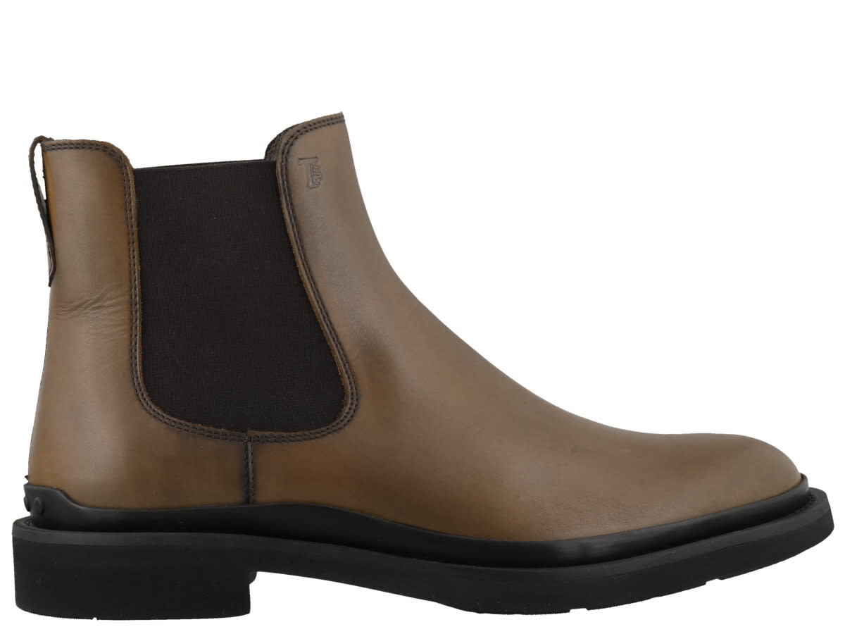 leather bootie, rubber soleComposition: 100% Calf Leather/ Rubber Sole