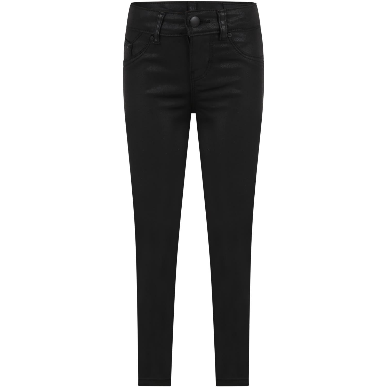 Black Trouser For Girl With Logo