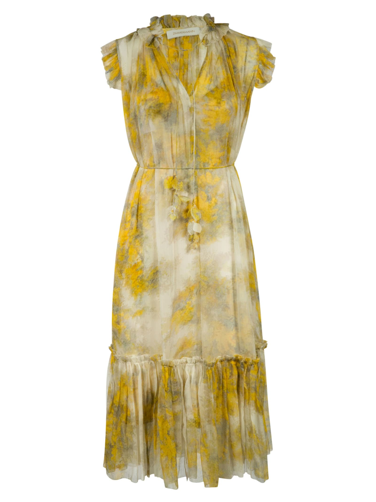 Buy Zimmermann Botanica Wattle Midi Dress online, shop Zimmermann with free shipping