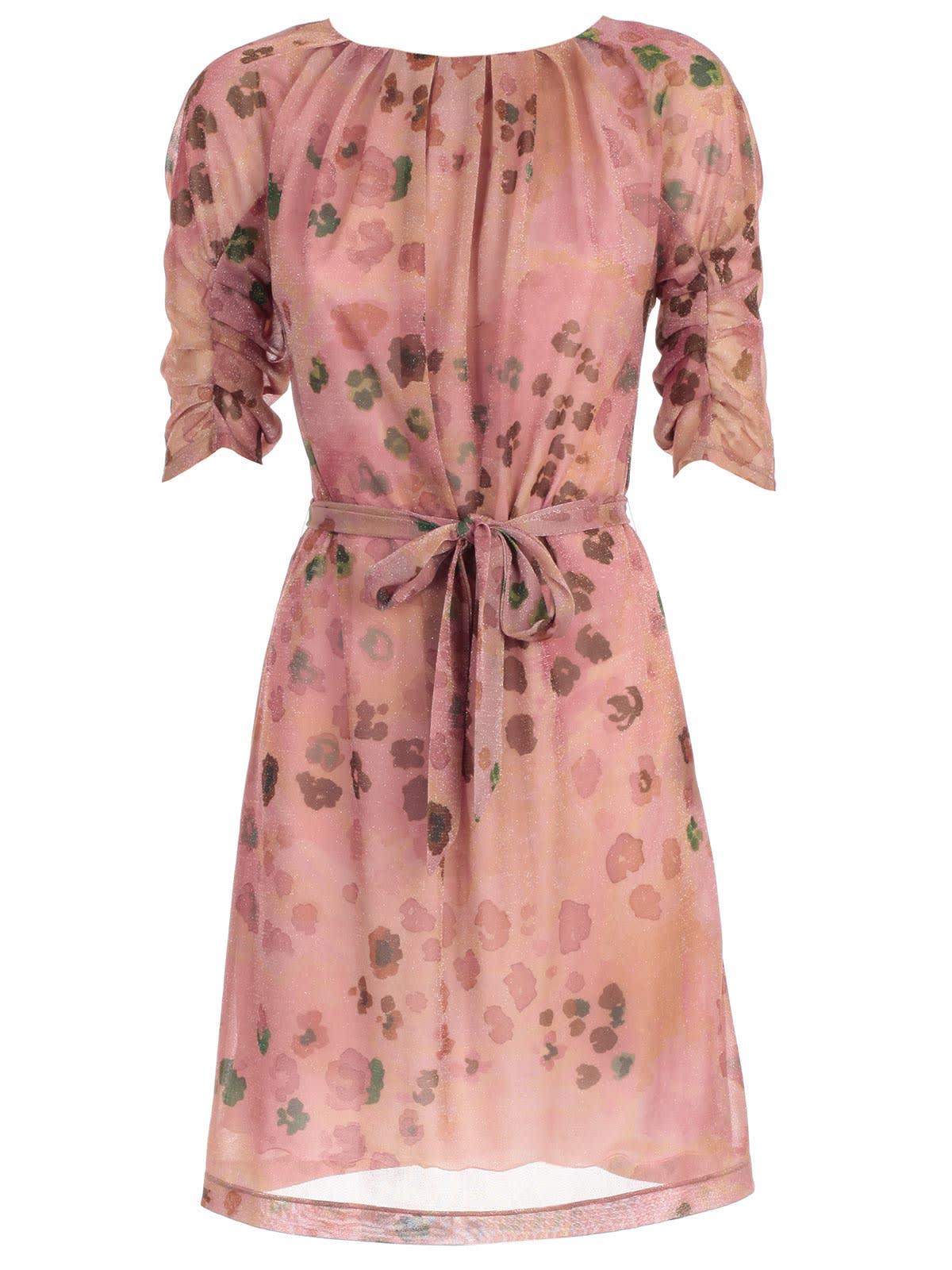 Blumarine Dress 3 & 4s Camouflage Lurex