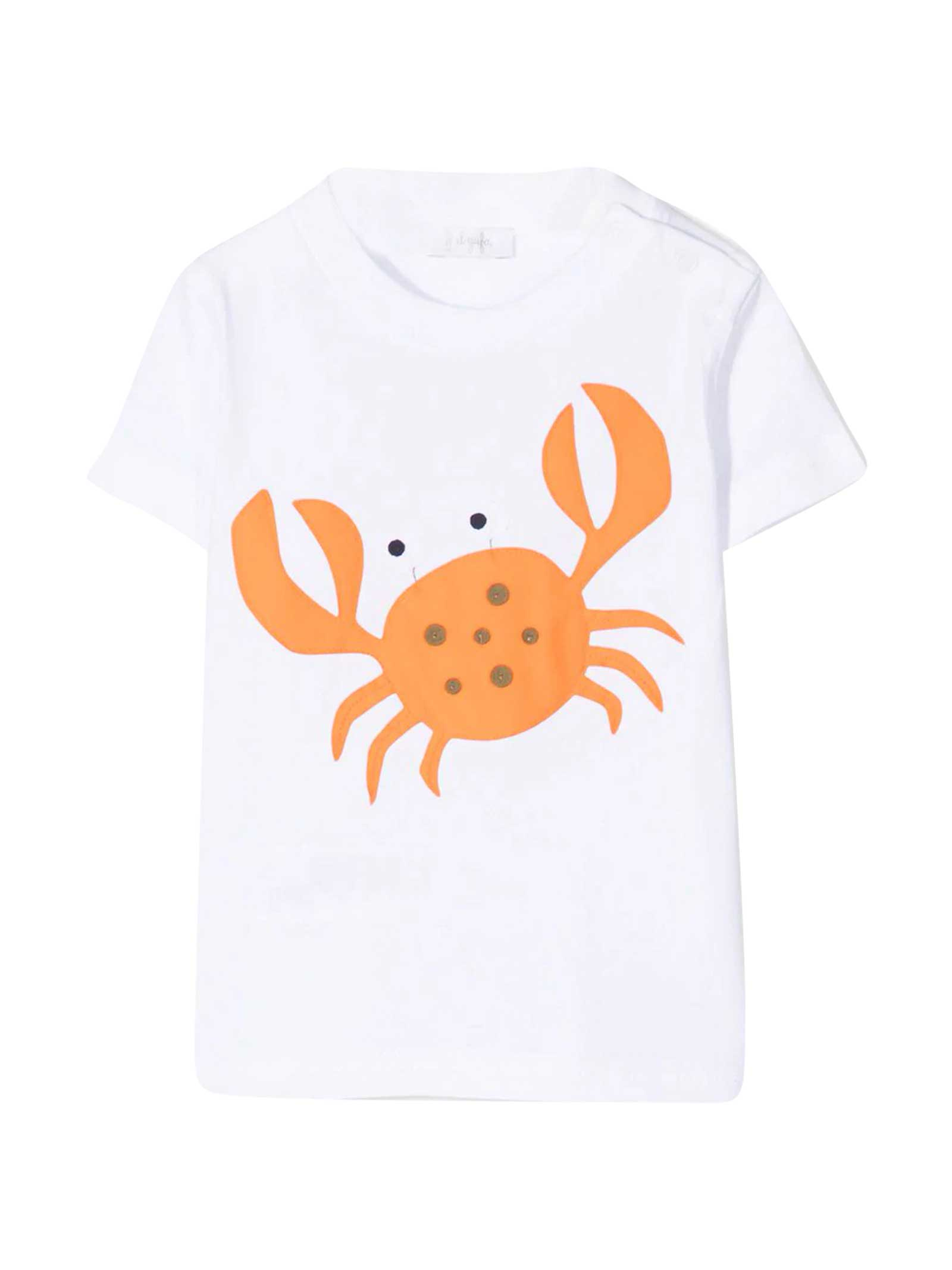 Il Gufo Cottons WHITE T-SHIRT WITH PRINT