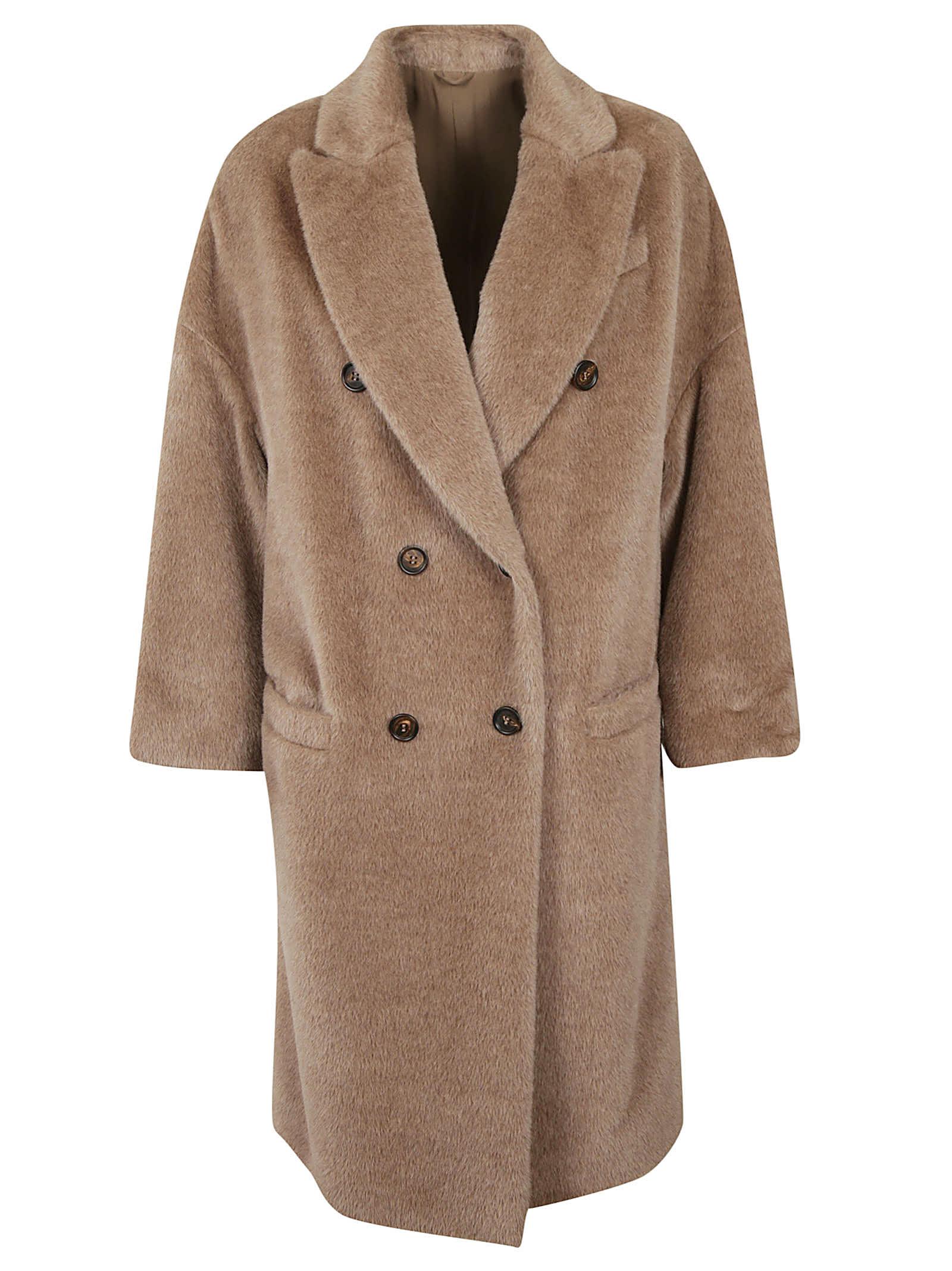 Brunello Cucinelli Double-breasted Fur Coat